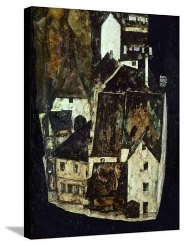 Dead City III (City on the Blue River III), 1911-Egon Schiele-Stretched Canvas Print