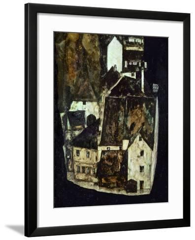 Dead City III (City on the Blue River III), 1911-Egon Schiele-Framed Art Print