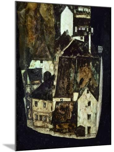 Dead City III (City on the Blue River III), 1911-Egon Schiele-Mounted Giclee Print