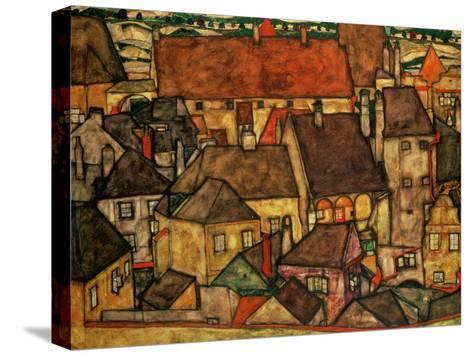 Yellow City, 1914-Egon Schiele-Stretched Canvas Print
