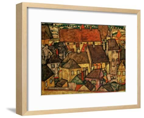 Yellow City, 1914-Egon Schiele-Framed Art Print