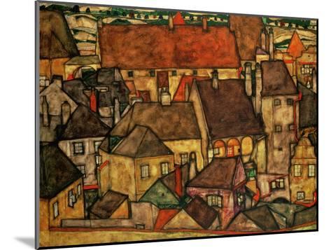 Yellow City, 1914-Egon Schiele-Mounted Giclee Print