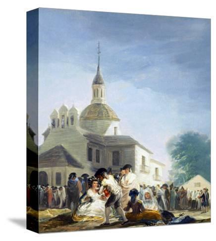 Pilgrims Before the Capel of Saint Isidore La Ermita De San Isidro El Dia De La Fiesta 1788-Suzanne Valadon-Stretched Canvas Print