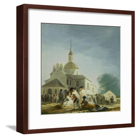 Pilgrims Before the Capel of Saint Isidore La Ermita De San Isidro El Dia De La Fiesta 1788-Suzanne Valadon-Framed Art Print