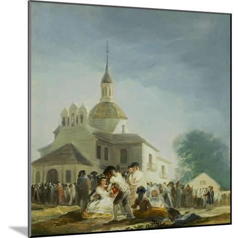 Pilgrims Before the Capel of Saint Isidore La Ermita De San Isidro El Dia De La Fiesta 1788-Suzanne Valadon-Mounted Giclee Print
