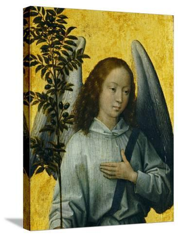 Angel Holding an Olive Branch, Symbol of Divine Peace-Hans Memling-Stretched Canvas Print