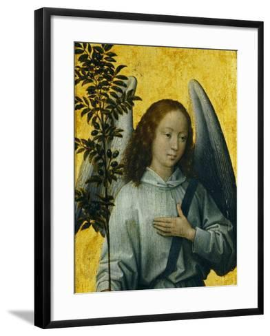 Angel Holding an Olive Branch, Symbol of Divine Peace-Hans Memling-Framed Art Print