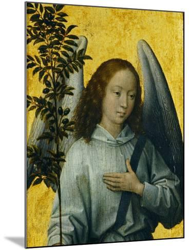 Angel Holding an Olive Branch, Symbol of Divine Peace-Hans Memling-Mounted Giclee Print