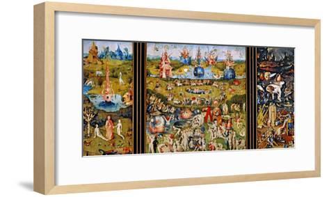 Garden of Delights-Hieronymus Bosch-Framed Art Print