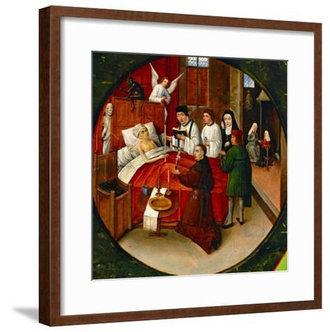 The Table of the Seven Deadly Sins, Death, Detail-Hieronymus Bosch-Framed Art Print
