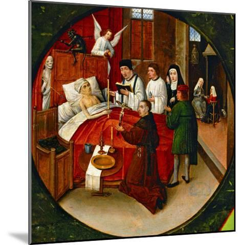The Table of the Seven Deadly Sins, Death, Detail-Hieronymus Bosch-Mounted Giclee Print