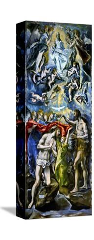 The Baptism of Jesus Christ, 1597/1600-El Greco-Stretched Canvas Print