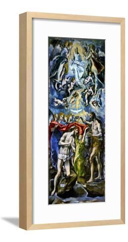 The Baptism of Jesus Christ, 1597/1600-El Greco-Framed Art Print