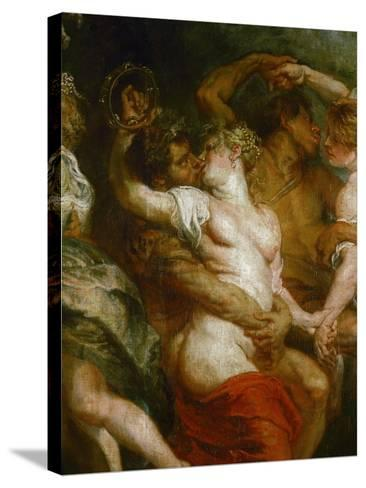 Satyr Embracing a Bacchante-Peter Paul Rubens-Stretched Canvas Print