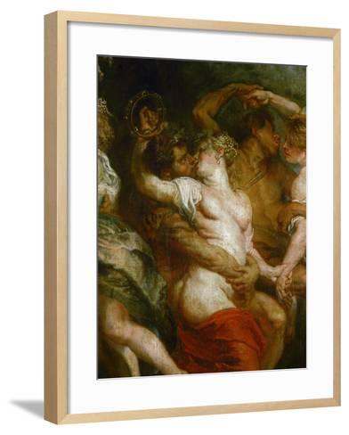 Satyr Embracing a Bacchante-Peter Paul Rubens-Framed Art Print