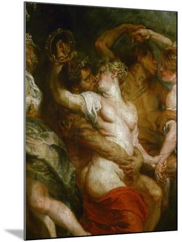 Satyr Embracing a Bacchante-Peter Paul Rubens-Mounted Giclee Print