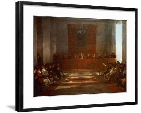 King Philip IV of Spain (1605-1665) Opening the Junta of the Philippines-Suzanne Valadon-Framed Art Print