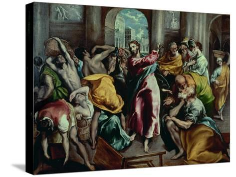 Christ Driving the Moneylenders from the Temple, 1600-El Greco-Stretched Canvas Print