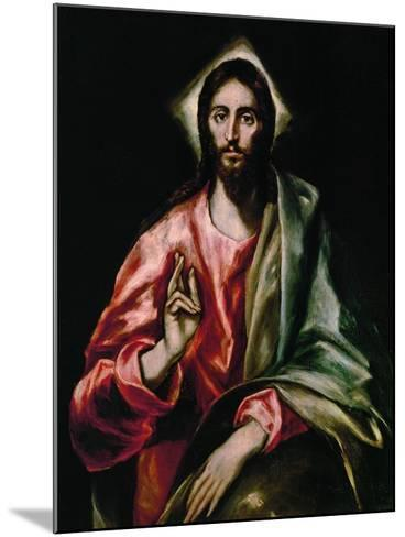 Christ Redeemer, 1610-1614-El Greco-Mounted Giclee Print