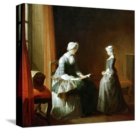 A Decent Education-Jean-Baptiste Simeon Chardin-Stretched Canvas Print