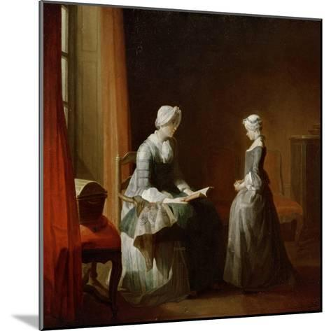 A Decent Education-Jean-Baptiste Simeon Chardin-Mounted Giclee Print