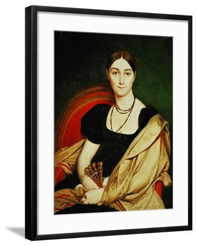Mme. Antonia De Vaucay, 1807-Jean-Auguste-Dominique Ingres-Framed Art Print