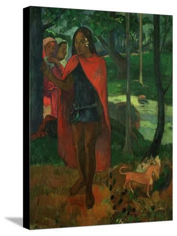 The Magician of Hiva Oa or the Marquisian Man with the Red Cape, 1902-Paul Gauguin-Stretched Canvas Print
