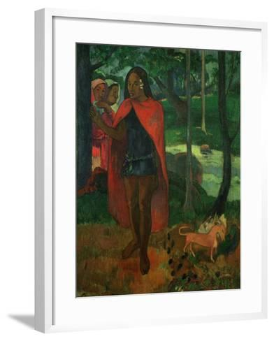 The Magician of Hiva Oa or the Marquisian Man with the Red Cape, 1902-Paul Gauguin-Framed Art Print