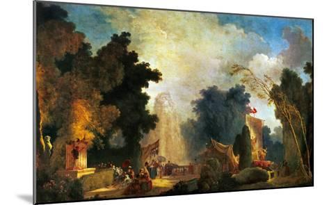 La Fete a St. Cloud, a Celebration in St. Cloud-Jean-Honor? Fragonard-Mounted Giclee Print