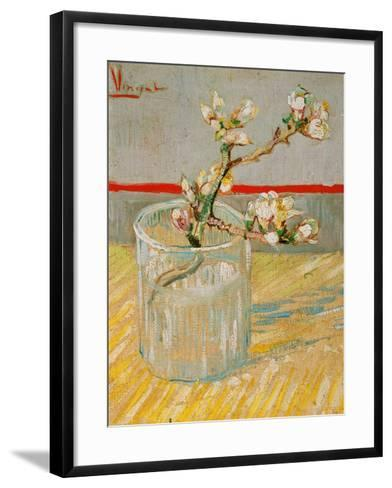 Blossoming Almond Branch in a Glass, c.1888-Vincent van Gogh-Framed Art Print