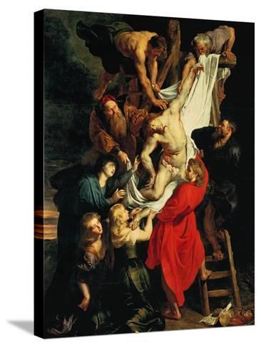 Altar: Descent from the Cross, Central Panel-Peter Paul Rubens-Stretched Canvas Print