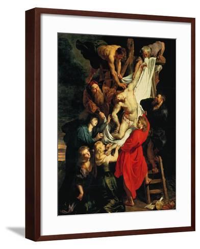 Altar: Descent from the Cross, Central Panel-Peter Paul Rubens-Framed Art Print