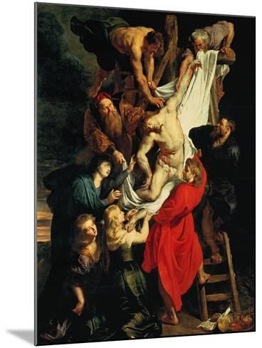 Altar: Descent from the Cross, Central Panel-Peter Paul Rubens-Mounted Giclee Print