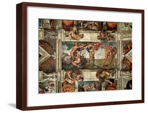 The Sistine Chapel: The Fall-Michelangelo Buonarroti-Framed Art Print