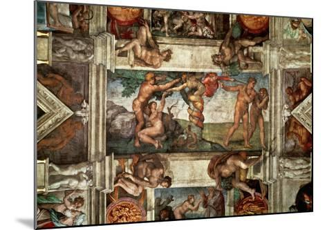 The Sistine Chapel: The Fall-Michelangelo Buonarroti-Mounted Giclee Print