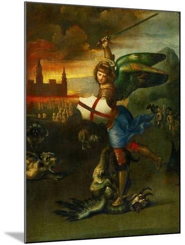 The Archangel Michael Slaying the Dragon-Raphael-Mounted Giclee Print
