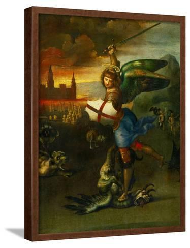 The Archangel Michael Slaying the Dragon-Raphael-Framed Art Print