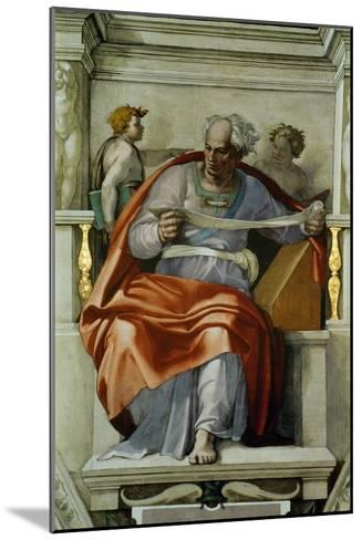 The Sistine Chapel; Ceiling Frescos after Restoration, the Prophet Joel-Michelangelo Buonarroti-Mounted Giclee Print