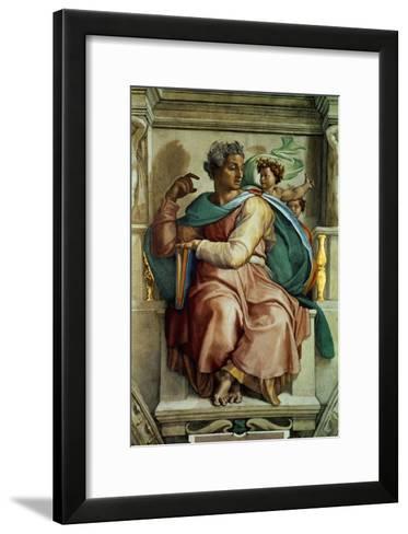 The Sistine Chapel; Ceiling Frescos after Restoration, the Prophet Isaiah-Michelangelo Buonarroti-Framed Art Print