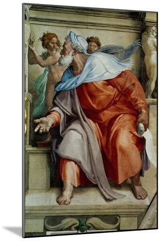 The Sistine Chapel; Ceiling Frescos after Restoration, the Prophet Ezekiel-Michelangelo Buonarroti-Mounted Giclee Print