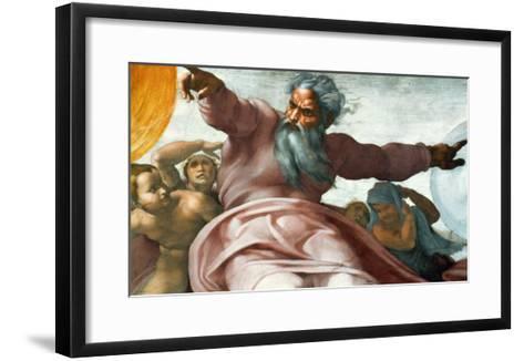The Sistine Chapel; Ceiling Frescos after Restoration-Michelangelo Buonarroti-Framed Art Print