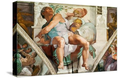 The Sistine Chapel; Ceiling Frescos after Restoration, the Prophet Jonah-Michelangelo Buonarroti-Stretched Canvas Print