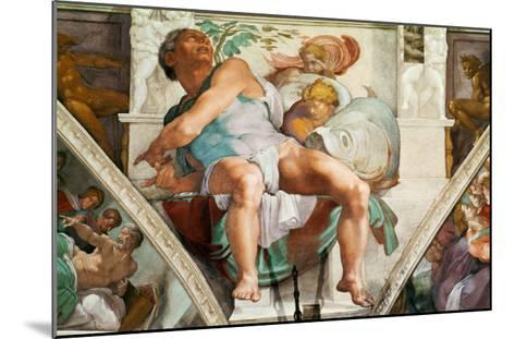The Sistine Chapel; Ceiling Frescos after Restoration, the Prophet Jonah-Michelangelo Buonarroti-Mounted Giclee Print