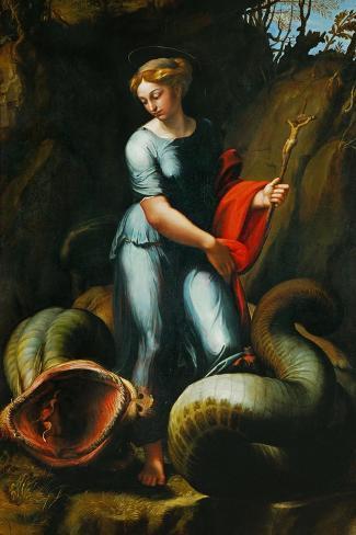 St. Margaret-Raphael-Stretched Canvas Print