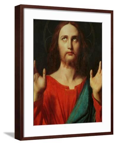 Christ, Tondo-Jean-Auguste-Dominique Ingres-Framed Art Print