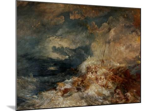 Fire Aboard Ship-J^ M^ W^ Turner-Mounted Giclee Print
