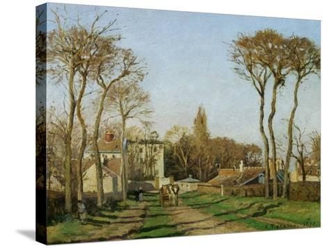 Entry into the Village of Voisins (Yvelines), 1872-Camille Pissarro-Stretched Canvas Print