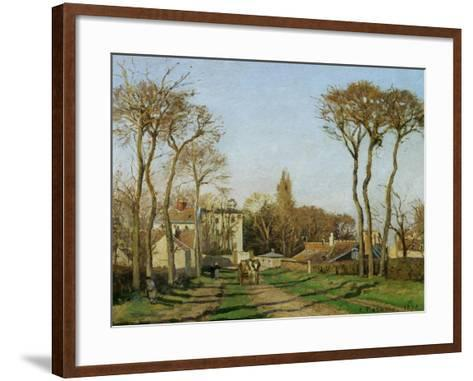 Entry into the Village of Voisins (Yvelines), 1872-Camille Pissarro-Framed Art Print