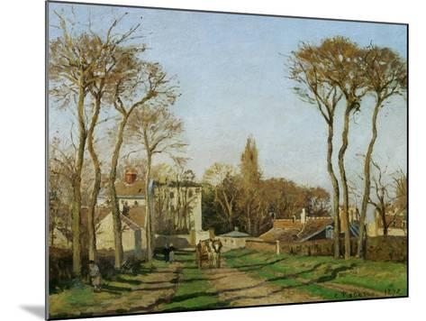 Entry into the Village of Voisins (Yvelines), 1872-Camille Pissarro-Mounted Giclee Print