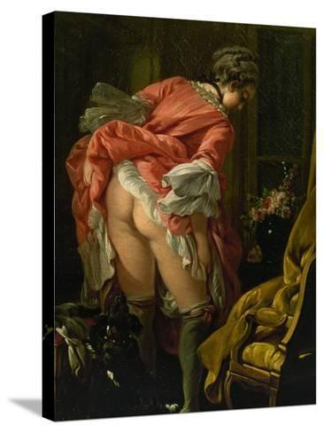 The Raised Skirt, 1742-Francois Boucher-Stretched Canvas Print